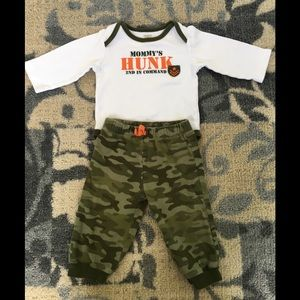 Camo two piece outfit by Carters